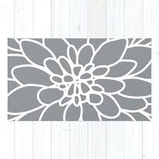 ikea flower rug wonderful modern dahlia flower rug area rug slate grey and white intended for