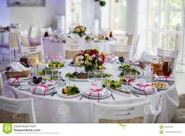 Luxury Vintage Wedding Reception Catering On White Table With F