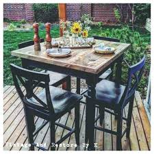 outdoor table and chairs rustic high top table and chairs medium size of home patio