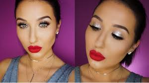 easy glitter glam makeup tutorial jaclyn hill