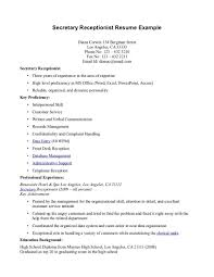dental receptionist resumes template hotel front desk samples of receptionist resumes