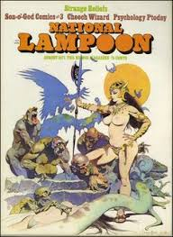 frank frazetta cover for national loon magazine
