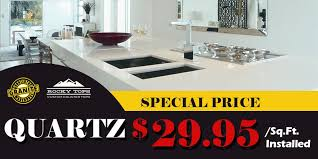 quartz countertops starting 29 95 sq ft installed