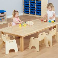 large natural wooden table h400mm