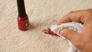remove dry nail polish stains from carpet