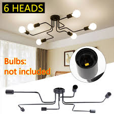industrial ceiling chandelier light vintage steampunk mount fixture pendant lamp