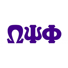 omega psi phi big greek letter window sticker decal 10