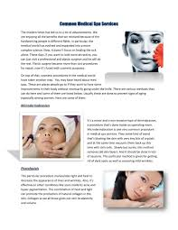 Common Medical Spa Services by Antonia Sims - issuu
