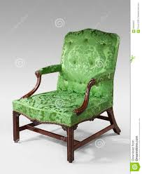 Armchair Upholstery Antique Arm Chair Light Green Upholstery On Light Background Stock
