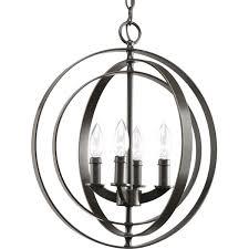 sphere lighting fixture. Progress Lighting P3827-20 4-Light Sphere Foyer Lantern With Pivoting Interlocking Rings, Antique Bronze - Ceiling Pendant Fixtures Amazon.com Fixture R