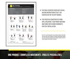 amazon trx rip workout poster exercise guide for rip trainer toys games