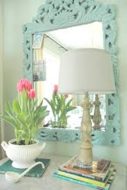 Duck Egg Blue Decorative Accessories Best Mirror Makeover With Annie Sloan Chalkpaint HoMe DecOr AcceSSories