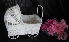 Baby Shower Accessories - Wicker Baby Buggy - Wicker Bassinet ...