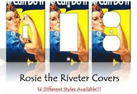 Rosie The Riveter Posters Girl Power Light Switch Covers Home Decor