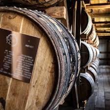 barrel plate on a barrel of bourbon