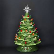 Vintage Ceramic Christmas Tree With Marbles  ChemineewebsiteCeramic Christmas Tree Vintage