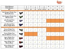 Sport Shoe Size Chart Size Conversion Charts Running Shoe