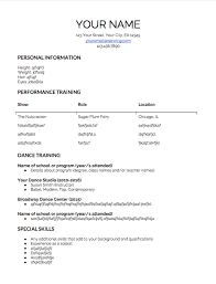 Dance Resumes Template Classy Dance Resume Template] 48 Images High School Dance Teacher