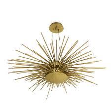 Hanging Lamp Contemporary Brass Handmade Soleil Brabbu