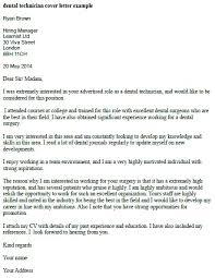 Surgical Technologist Cover Letter Dental Technician Cover Letter