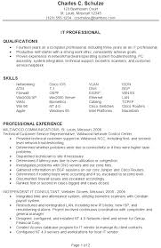 It Resume Template Best It Job Resume Format It Job Resume Format