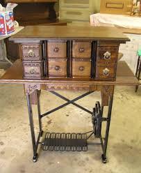 Repurposed Sewing Machine Cabinet