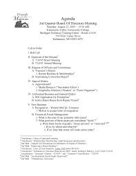 Formal Meeting Agenda Template For Non Profit Organization