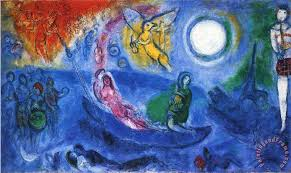 the concert 1957 painting marc chagall the concert 1957 art print
