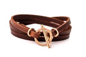 rose gold leather bracelet