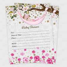 baby girl invite 20 rose baby girl shower invitations invite cards invites decorations envelope ebay