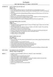 Simulation Analyst Resume Samples Velvet Jobs