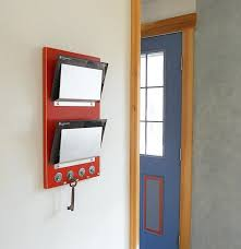 wall mounted mail organizer simple kitchen with hanging hooks