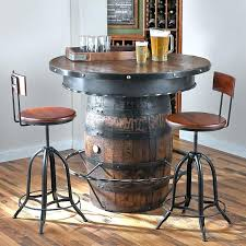 whiskey barrel pub table diy wine
