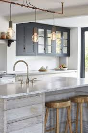 kitchen island lighting design. Contemporary Lighting DIY Lighting Strung Onto Brass Or Copper Pole Throughout Kitchen Island Lighting Design