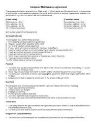 Maintenance Agreement Unique Service Contract New Fresh Monthly Service Contract Template 48