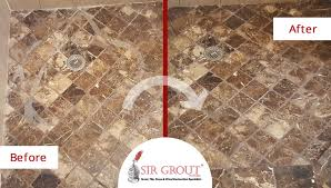 damaged marble shower in highland park is beautifully red with proper stone cleaning and sealing service