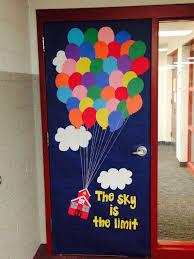 classroom door. Exellent Classroom Classroom Door Decor Inspired By The Movie Up Instead Of A House I Made  School House  Intended Door L
