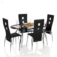 Glass Dining Table Set 4 Chairs Glass Dining Table Set 4 Chairs Wildwoodstacom