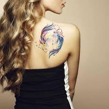 Glaryyears немного большая рука временная татуировка наклейка красочные рыбы