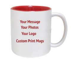 color inside printed mugs