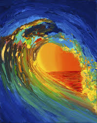 hawaii abstract paintings wave painting