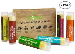 usda organic lip balm by sky organics 2 pack 6 pack orted flavors with beeswax coconut oil vitamin e best lip plumper chapstick for dry lips