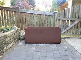 rust planter box. Wonderful Planter Trough Metal Corten Steel Planter Box Rust Extra Large Rectangle Throughout D