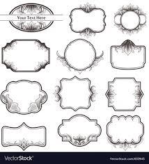 vine ornate frames vector image