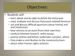night elie wiesel ppt  10 objectives
