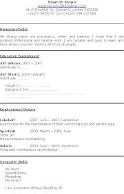 First Job Resume Template All Best Cv Resume Ideas