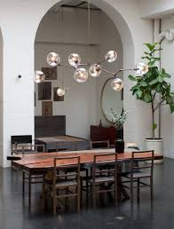 lighting floating bubble chandelier with decorative plant on pot also arched door for pretty dining room beauty home decor cascading glass styles light
