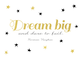 Image result for dream big and dare to fail