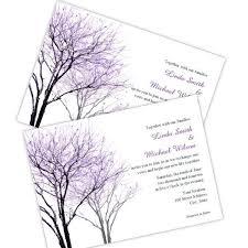 Purple Trees Wedding Invitation Template