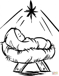 Coloring pages & coloring book for kids, children, toddlers, kinder, girls, boys, baby. 11 Most Awesome Baby Jesus Manger Coloring Pages Nativity Book Colorine Page Stone Clipart And The Birth Hay Scene Ingenuity In Oguchionyewu